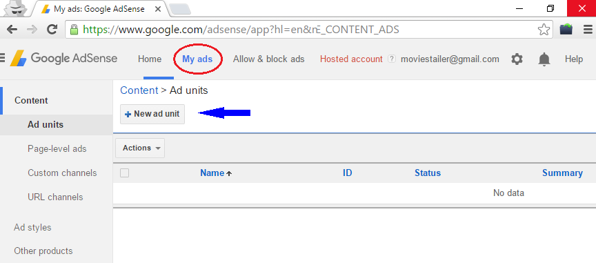 create adsense code for website
