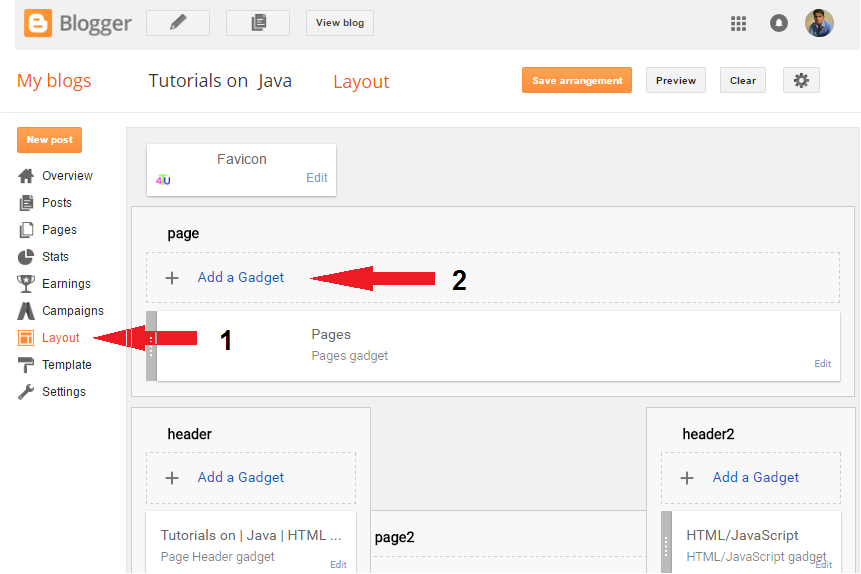 add adsense code on blogger