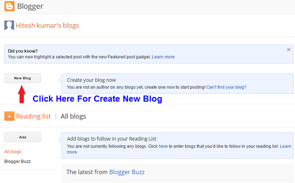 How to Create Blog | How to Create Free Blog - Sitesbay