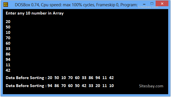 Sort an Array Elements in Ascending Order in C++ - C++ Program