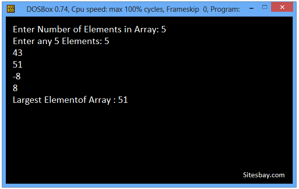 c++ program to find largest elements form array
