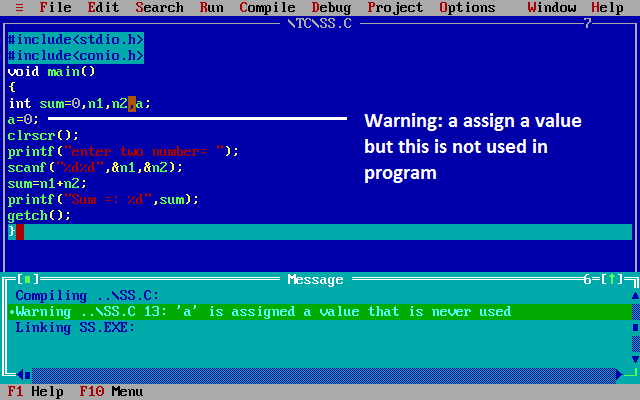 errors in c