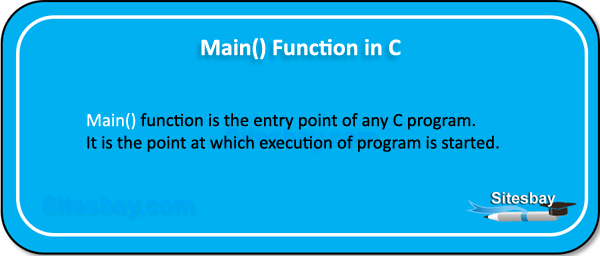 main function in c