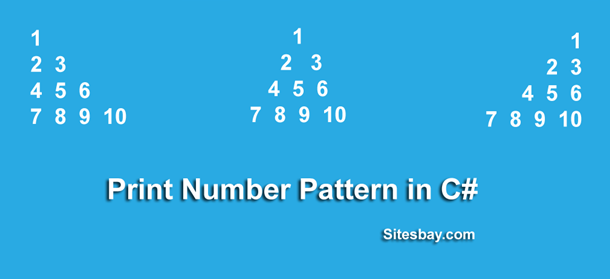 print number pattern in c#