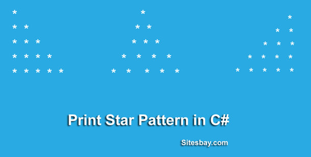 print star pattern in c#