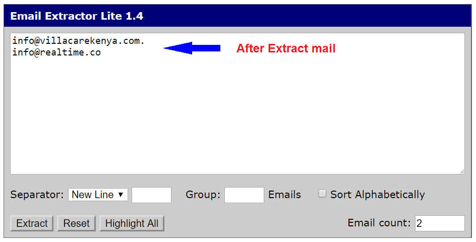 how to extract email address