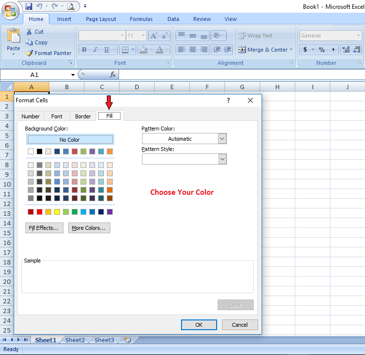 change excel cell color based on condition