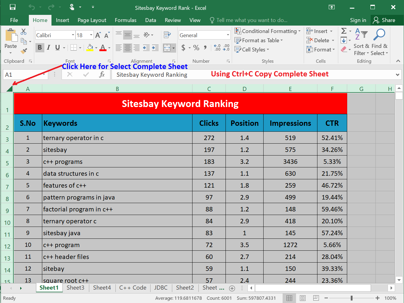 copy paste excel sheet