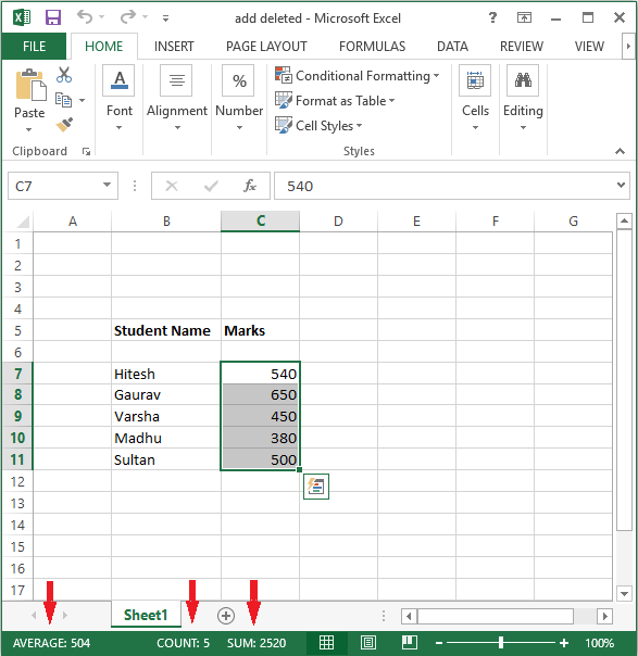 quick excel functions