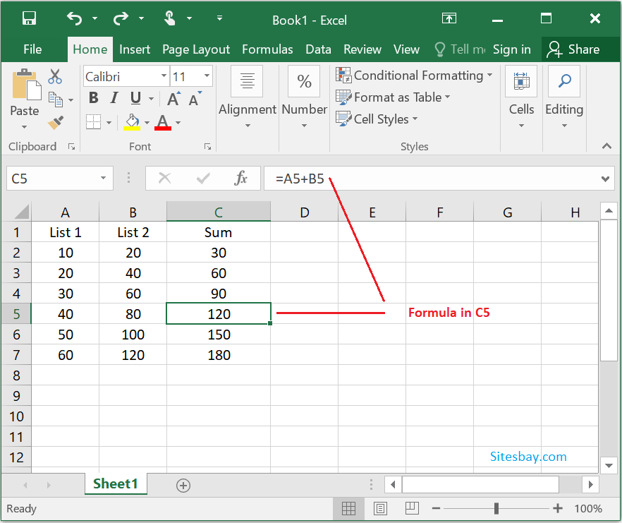 relative referencing in excel