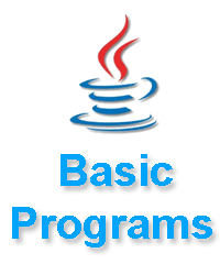 basic java programs