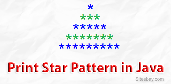 Print Star Pattern in Java | Print Triangle of Star in Java