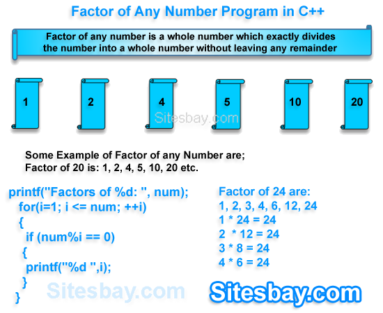 factor of number program in c