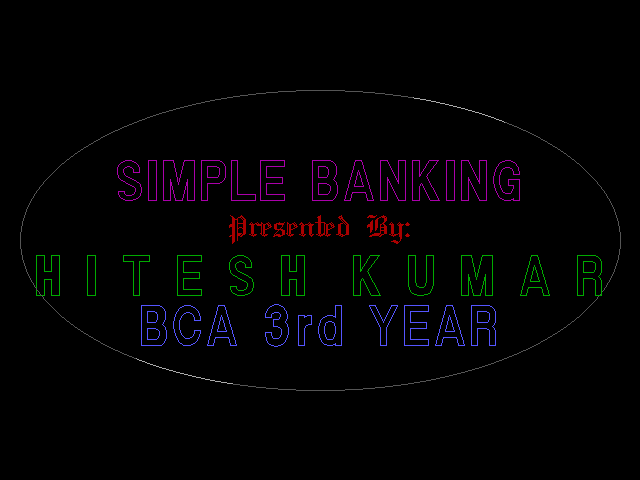 Project On Banking Management System