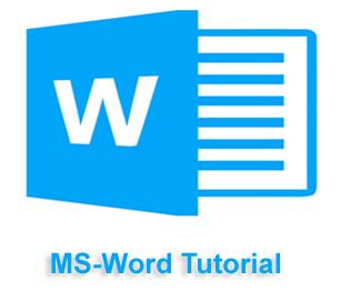 MS-Word Tutorial