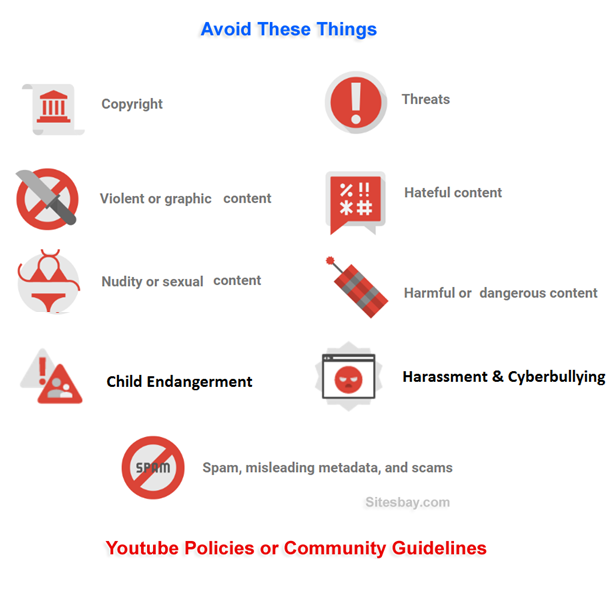 youtube policy and youtube community guideline